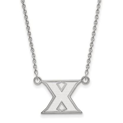 Picture of Xavier University Musketeers 10k White Gold Small Necklace