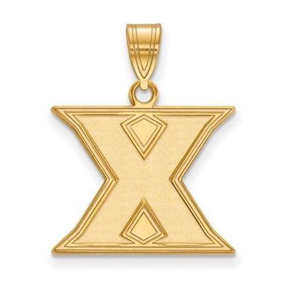Picture of Xavier University Musketeers 10k Yellow Gold Medium Pendant