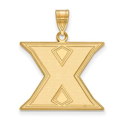 Picture of Xavier University Musketeers Sterling Silver Gold Plated Large Pendant
