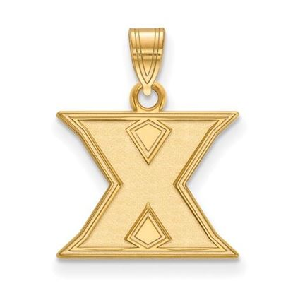 Picture of Xavier University Musketeers Sterling Silver Gold Plated Small Pendant