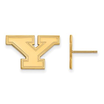 Picture of Youngstown State University Penguins 10k Yellow Gold Small Post Earrings