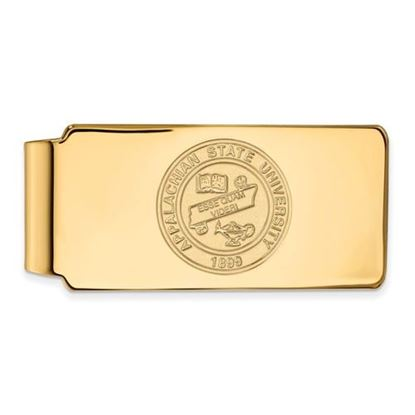 Picture of Appalachian State University Mountaineers Sterling Silver Gold Plated Crest Money Clip