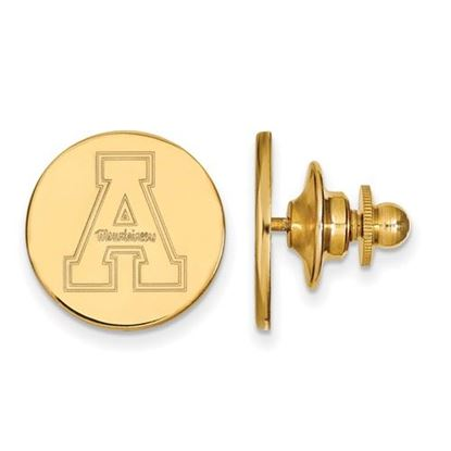 Picture of Appalachian State University Mountaineers Sterling Silver Gold Plated Lapel Pin