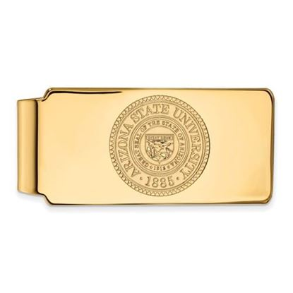 Picture of Arizona State University Sun Devils Sterling Silver Gold Plated Crest Money Clip