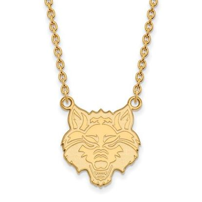 Picture of Arkansas State University Red Wolves Sterling Silver Gold Plated Large Necklace