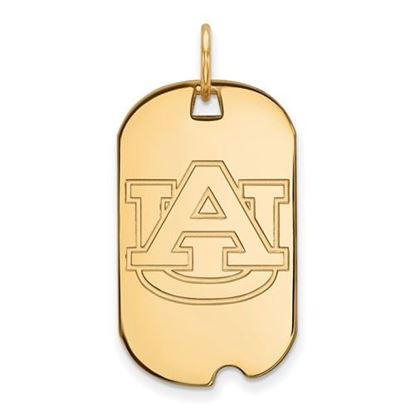 Picture of Auburn University Tigers Sterling Silver Gold Plated Small Dog Tag
