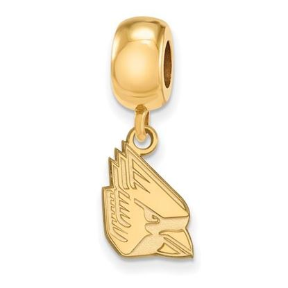 Picture of Ball State University Cardinals Sterling Silver Gold Plated Small Dangle Bead