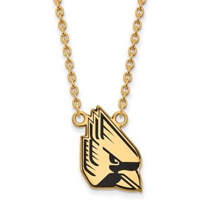Picture of Ball State University Cardinals Sterling Silver Gold Plated Enameled Necklace