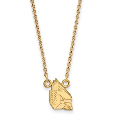 Picture of Ball State University Cardinals Sterling Silver Gold Plated Small Necklace