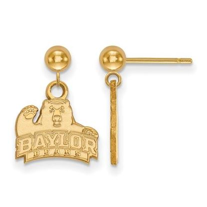 Picture of Baylor University Bears Sterling Silver Gold Plated Dangle Earrings