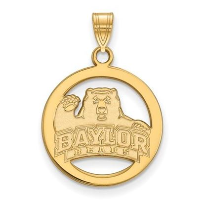 Picture of Baylor University Bears Sterling Silver Gold Plated Small Circle Pendant