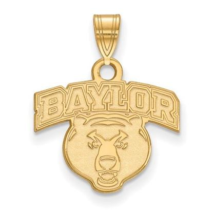 Picture of Baylor University Bears Sterling Silver Gold Plated Small Pendant