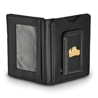 Picture of Baylor University Bears Sterling Silver Gold Plated Black Leather Wallet