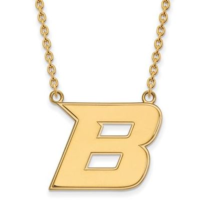 Picture of Boise State University Broncos Sterling Silver Gold Plated Large Necklace