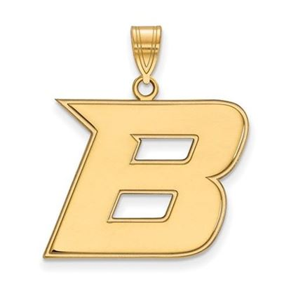 Picture of Boise State University Broncos Sterling Silver Gold Plated Large Pendant