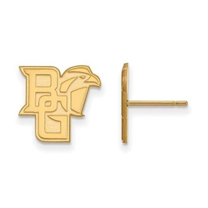 Picture of Bowling Green State University Falcons Sterling Silver Gold Plated Small Post Earrings