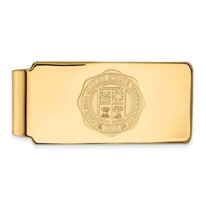 Picture of Bowling Green State University Falcons Sterling Silver Gold Plated Crest Money Clip