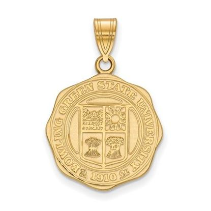 Picture of Bowling Green State University Falcons Sterling Silver Gold Plated Large Crest Pendant