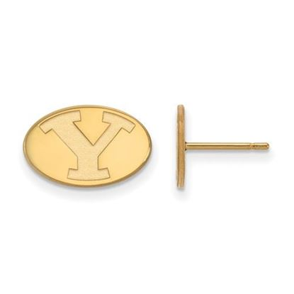 Picture of Brigham Young University Cougars 14k Sterling Silver Gold Plated Extra Small Post Earrings