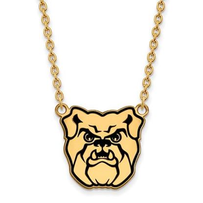 Picture of Butler University Bulldogs Sterling Silver Gold Plated Enameled Large Necklace