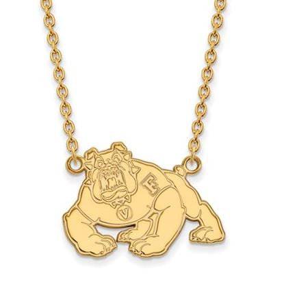 Picture of California State University Fresno Bulldogs Sterling Silver Gold Plated Large Necklace
