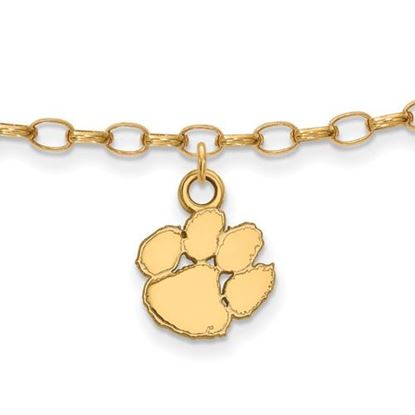 Picture of Clemson University Tigers Sterling Silver Gold Plated Anklet