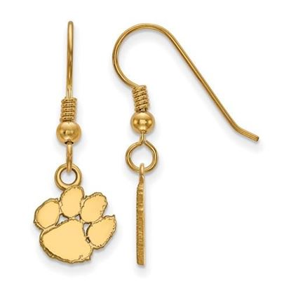 Picture of Clemson University Tigers Sterling Silver Gold Plated Extra Small Dangle Earrings