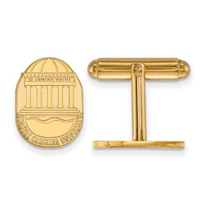 Picture of Coastal Carolina University Chanticleers Sterling Silver Gold Plated Crest Cuff Links