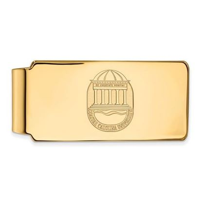 Picture of Coastal Carolina University Chanticleers Sterling Silver Gold Plated Crest Money Clip