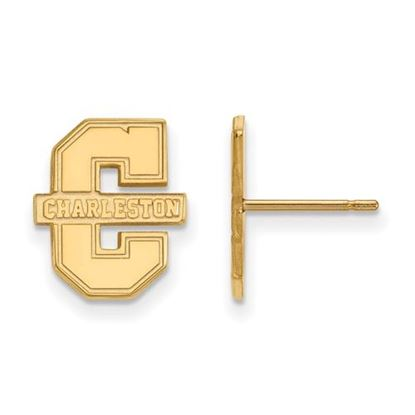 Picture of College of Charleston Cougars Sterling Silver Gold Plated Small Post Earrings