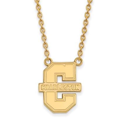 Picture of College of Charleston Cougars Sterling Silver Gold Plated Large Necklace