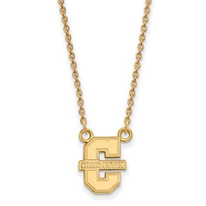 Picture of College of Charleston Cougars Sterling Silver Gold Plated Small Necklace