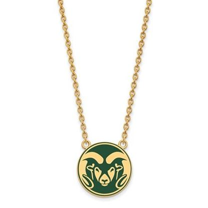 Picture of Colorado State University Rams Sterling Silver Gold Plated Enameled Large Necklace