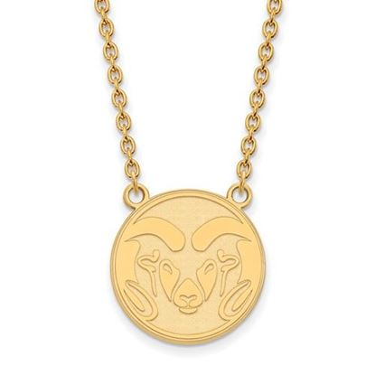Picture of Colorado State University Rams Sterling Silver Gold Plated Large Necklace