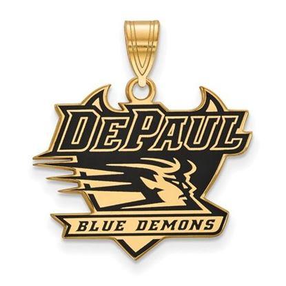 Picture of DePaul University Blue Demons Gold Plated Enameled Blue Demons Pendant