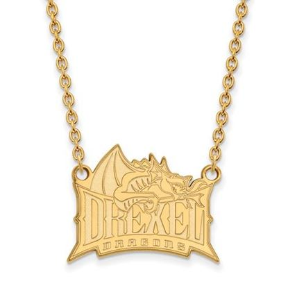 Picture of Drexel University Dragons Sterling Silver Gold Plated Large Necklace