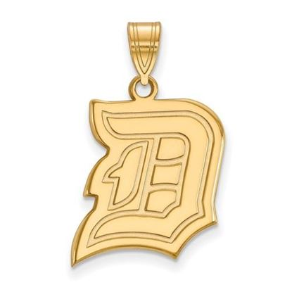 Picture of Duquesne University Dukes Sterling Silver Gold Plated Large Pendant
