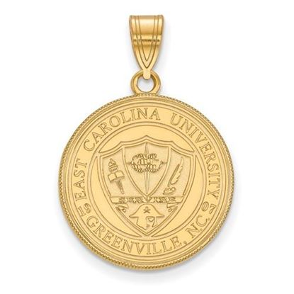 Picture of East Carolina University Pirates Sterling Silver Gold Plated Large Crest Pendant