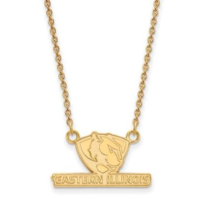 Picture of Eastern Illinois University Panthers Sterling Silver Gold Plated Small Necklace