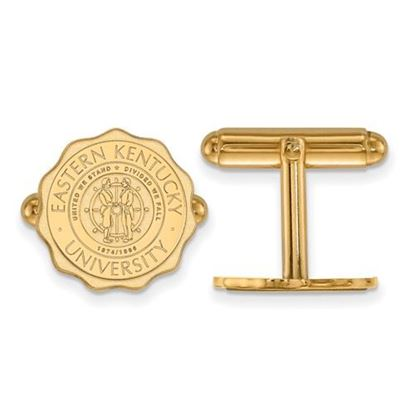 Picture of Eastern Kentucky University Pirates Sterling Silver Gold Plated Crest Cuff Links