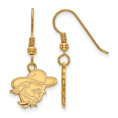 Picture of Eastern Kentucky University Pirates Sterling Silver Gold Plated Small Dangle Earrings