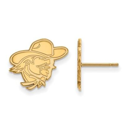 Picture of Eastern Kentucky University Pirates Sterling Silver Gold Plated Small Post Earrings