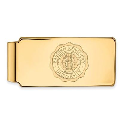 Picture of Eastern Kentucky University Pirates Sterling Silver Gold Plated Crest Money Clip