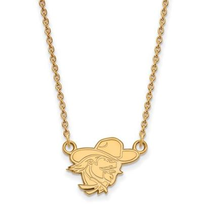 Picture of Eastern Kentucky University Pirates Sterling Silver Gold Plated Small Necklace