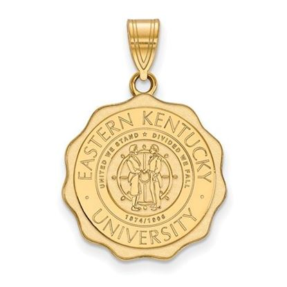 Picture of Eastern Kentucky University Pirates Sterling Silver Gold Plated Large Crest Pendant
