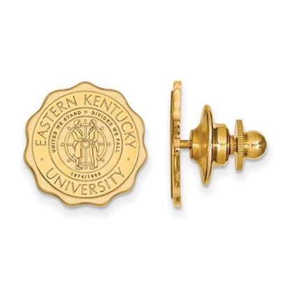 Picture of Eastern Kentucky University Pirates Sterling Silver Gold Plated Crest Lapel Pin