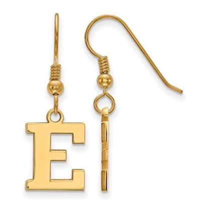 Picture of Eastern Michigan University Eagles Sterling Silver Gold Plated Small Dangle Earrings