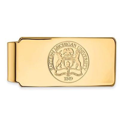 Picture of Eastern Michigan University Eagles Sterling Silver Gold Plated Crest Money Clip