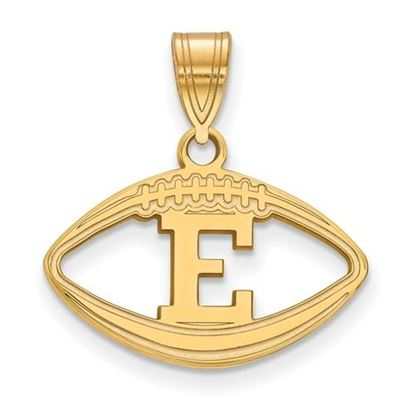 Picture of Eastern Michigan University Eagles Sterling Silver Gold Plated Football Pendant