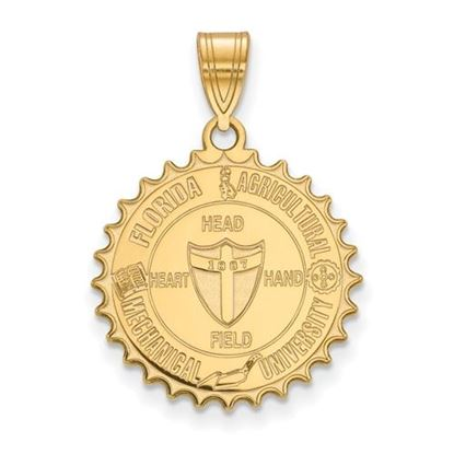 Picture of Florida A&M University Rattlers Sterling Silver Gold Plated Large Crest Pendant